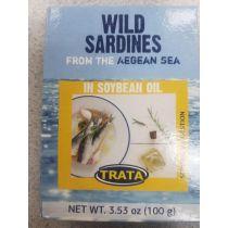 Trata Wild Sardines in Soybean Oil 100g