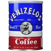 Venizelos Greek Style Ground Coffee 1 LB