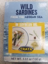 Trata Wild Sardines in Soybean Oil 100g